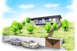『傾斜地に建つ、余生と自然を楽しむ家』